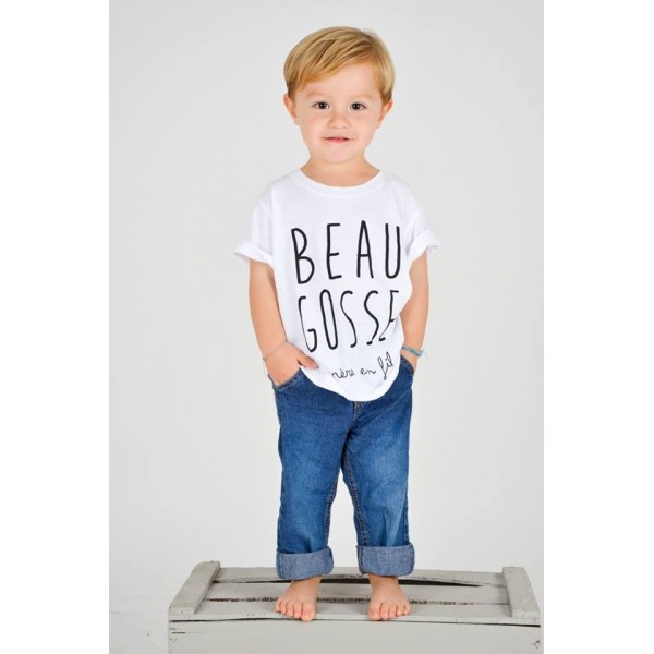 tee shirt enfant beau gosse de p re en fils marcel et lily. Black Bedroom Furniture Sets. Home Design Ideas