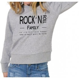 "Sweat-shirt bio enfant ""Rock & Roll Family"""
