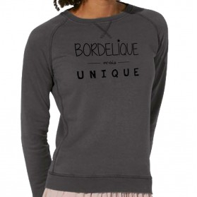 "Sweat-shirt bio femme ""Bordélique mais unique"""