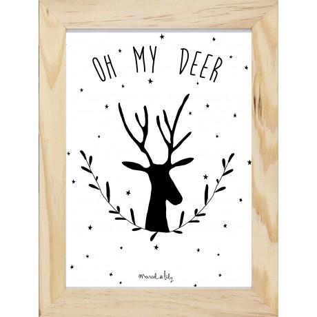 "Affiche ""Oh my Deer"""