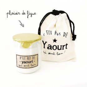 Bougie P'tit pot de yaourt Figue
