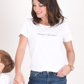 "Tee-shirt bio femme - Collection Capsule ""Maman d'amour"""