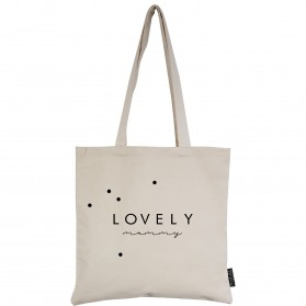 "Tote-Bag écru ""Lovely Mummy"""