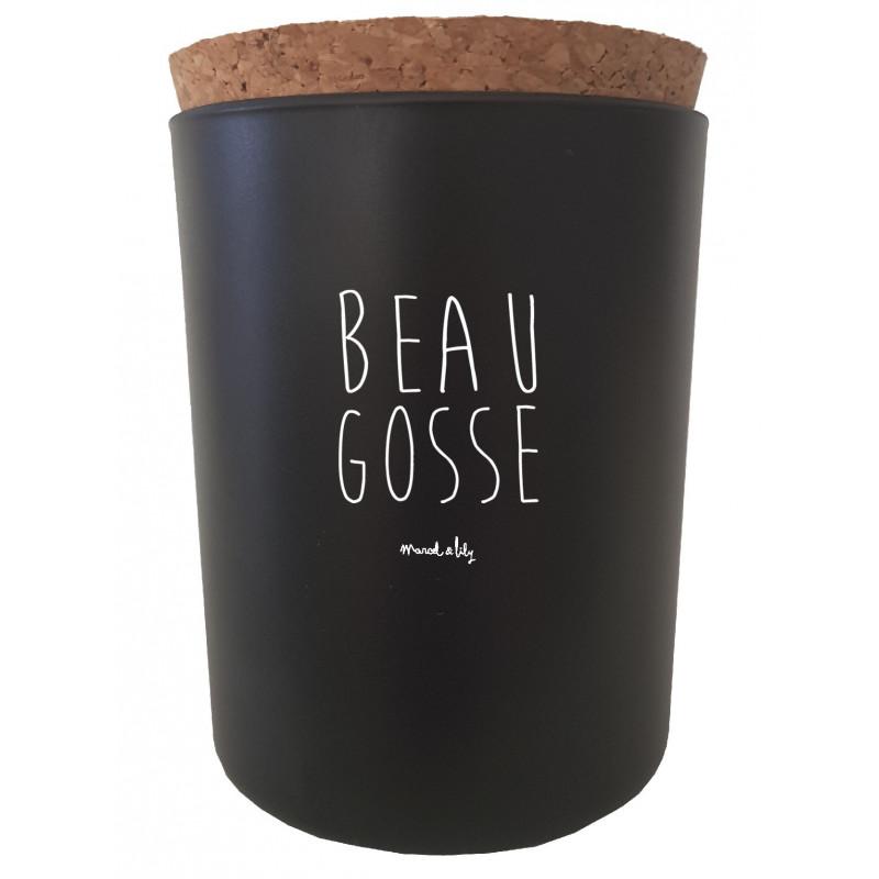 """Bougie """"Beau Gosse"""" - Bois noir"""