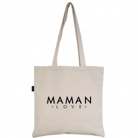 "Tote-Bag écru ""Maman Love"""