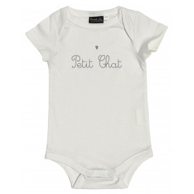 "Body ""petit chat"" gris"