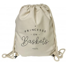 "grand sac a dos "" Princesse en Baskets"""