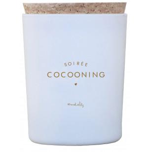 "Bougie ""Soirée Cocooning"" - Bois Noir"