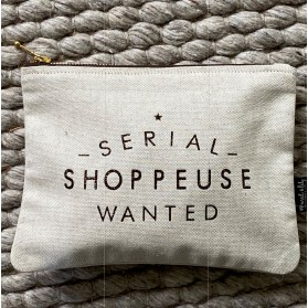 "Trousse en lin-coton "" SERIAL SHOPPEUSE """