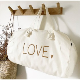 Sac Polochon blanc milk - love