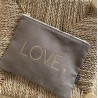 """Trousse warm taupe """"LOVE"""""""