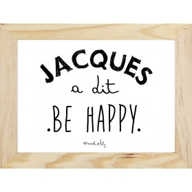 "Affiche "" Jacques a dit be happy"""