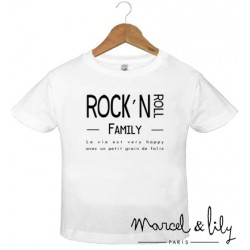 "tee-shirt enfant ""Rock'N Roll Family"""