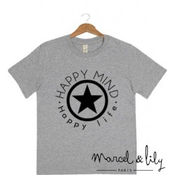 "tee-shirt enfant ""Happy mind, Happy life"""