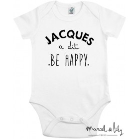 """Body + mini tote bag """"Jacques a dit be happy """""""