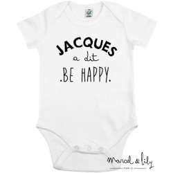 "Body + mini tote bag ""Jacques a dit be happy """