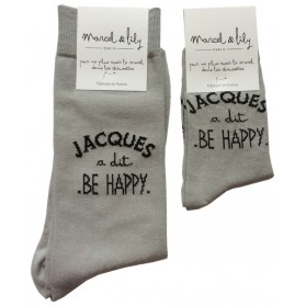 "Chaussettes ""Jacques a dit be happy"""