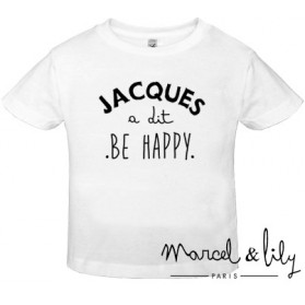 "Tee-shirt enfant en coton biologique "" Jacques a dit, Be Happy """